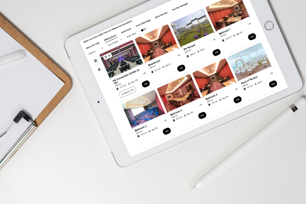 Arrange an event from an iPad